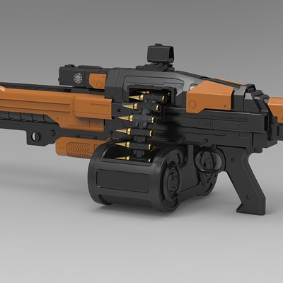 Christian vasquez machinegun render4