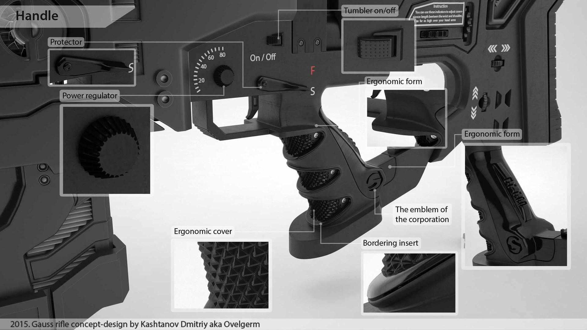 Dmitriy Kashtanov - Gauss rifle concept-design