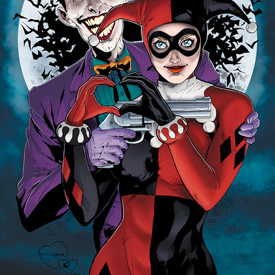 Matt james harley quinn and the joker mad love by mattjamescomicarts d9dip2c