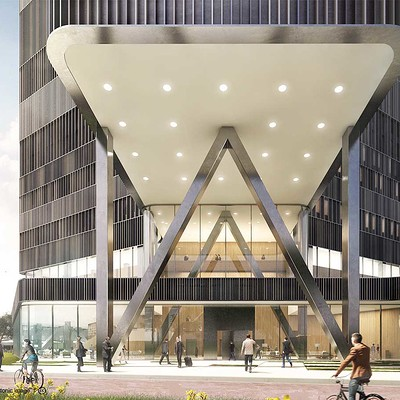 Play time architectonic image mecanoo amsterdam rai hotel 01