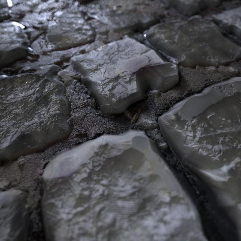 Procedural Wet Brick Floor