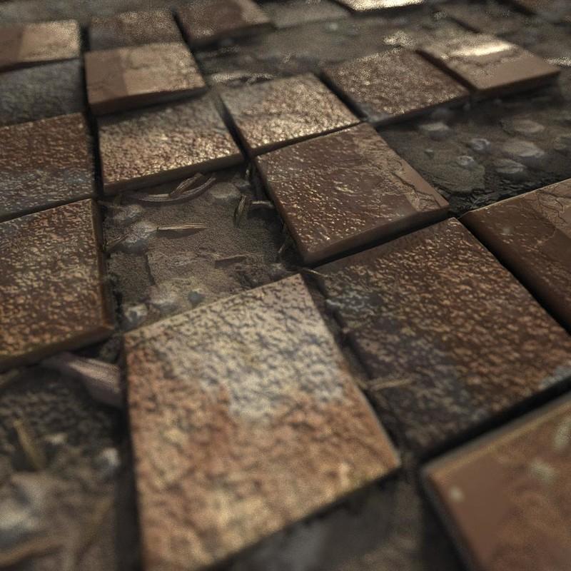 Procedural old tile floor
