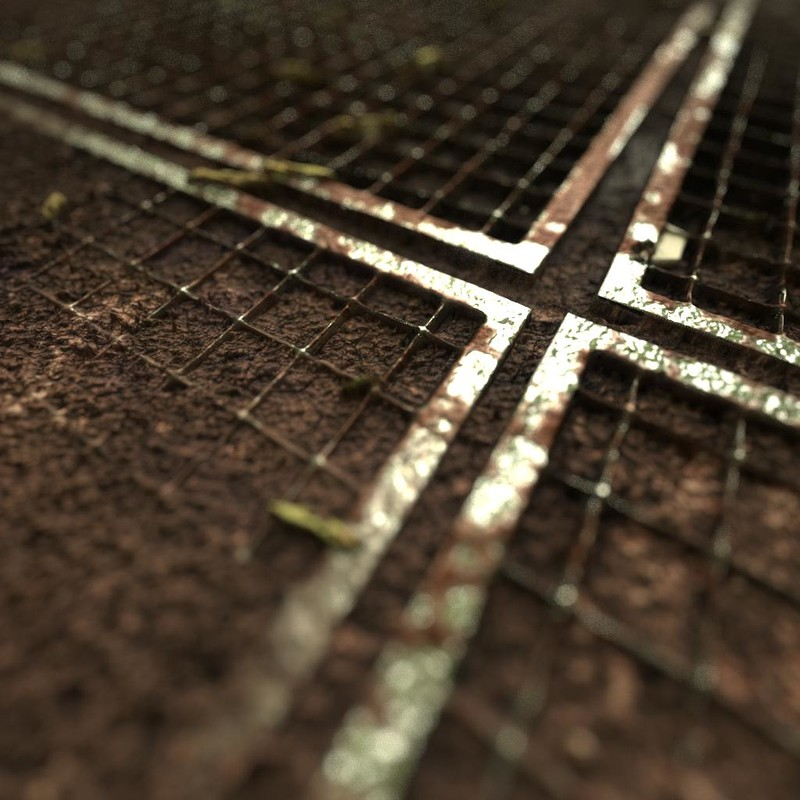 Covered Metal Grid - Full procedural