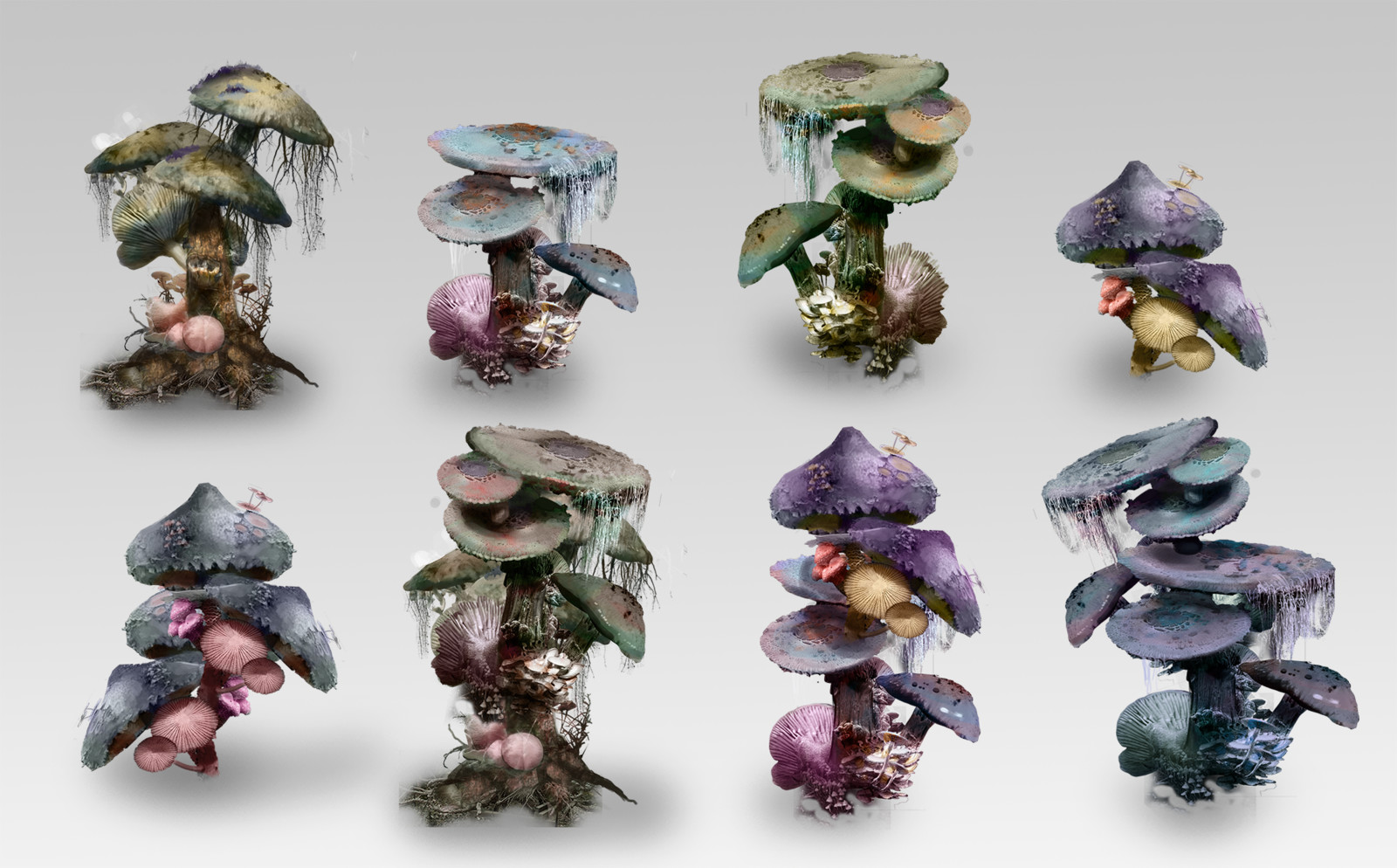 Alien Mushroom Tree Concepts
