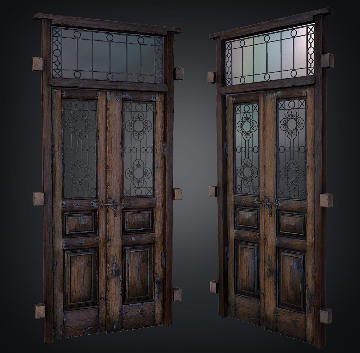 & ArtStation - Old damaged door Daniel Hull