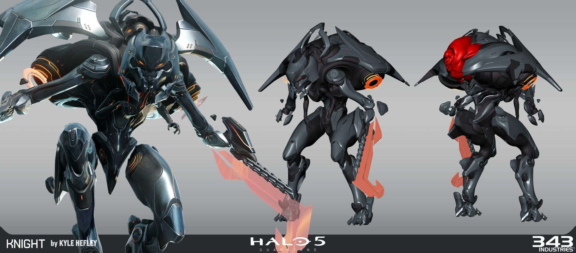 Artstation Halo 5 Knight Battlewagon Kyle Hefley