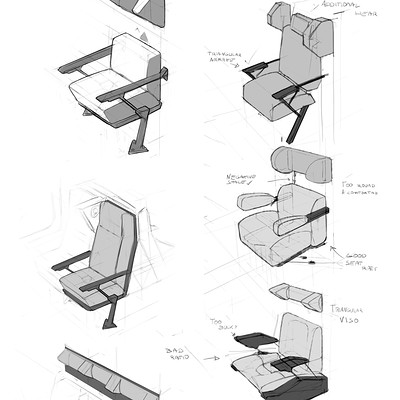 Adam daroszewski technical drawing seats