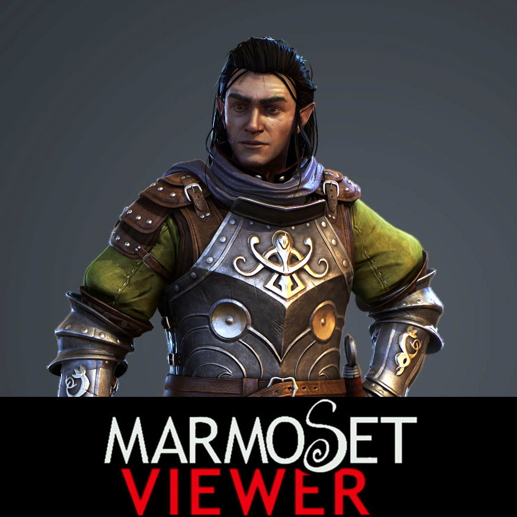 Elfe Warrior Marmoset Viewer