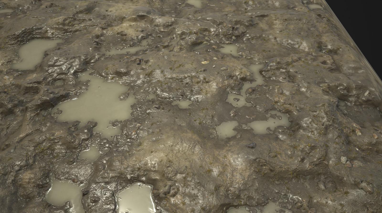 Substance_Designer - 100% procedural Muddy Ground