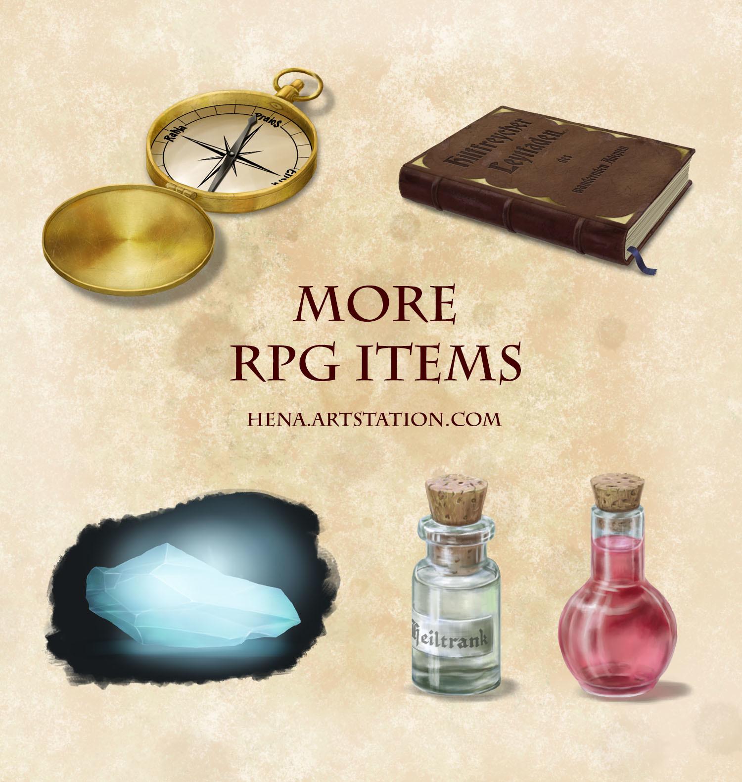 DSA: More RPG items