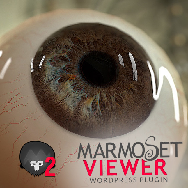 Low poly Realistic Eye with Marmoset Viewer