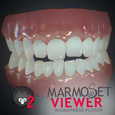 Teeth test Marmoset toolbag 2 viewer - WIP