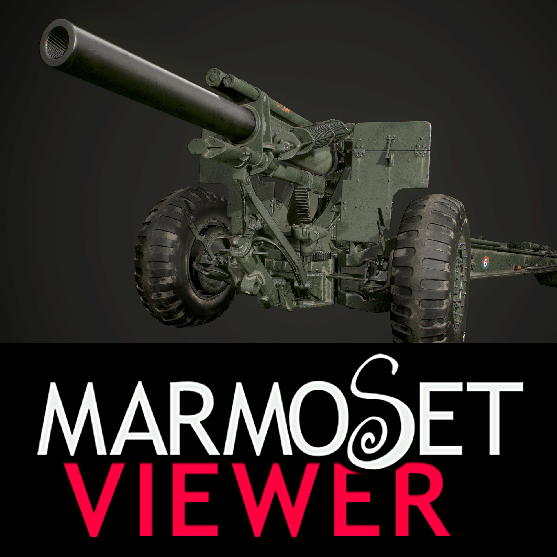 ArtStation - 155mm Howitzer M1 for PBR, Ivan Korvegin