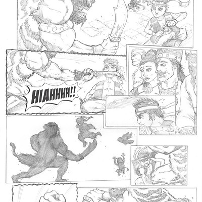 Oliver liao rangga fighting comic penciling art