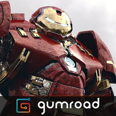 Romain chauliac hulkbuster gumroad vignette