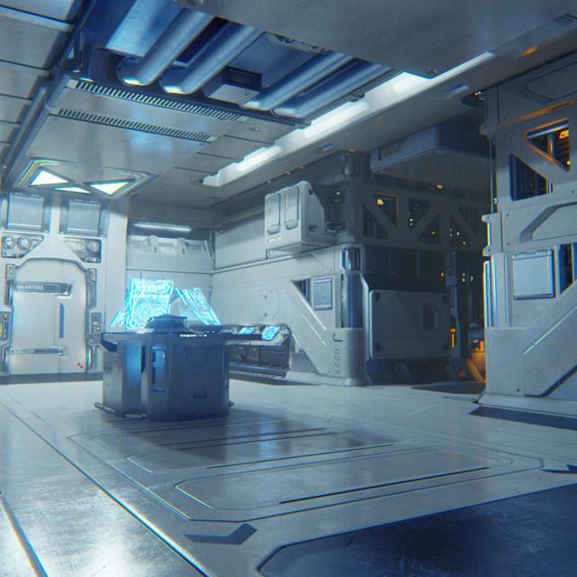 Sci Fi Hospital Room : Artstation sci fi room mick jundt