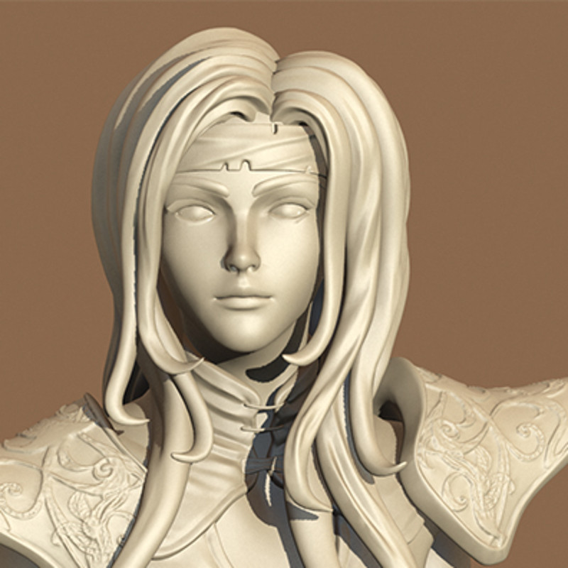 ... Final Fantasy VI - Celes Chere Re-Mastered - Sculpt, <b>Assani Duongsaa</b> - assani-duongsaa-celes-003-b