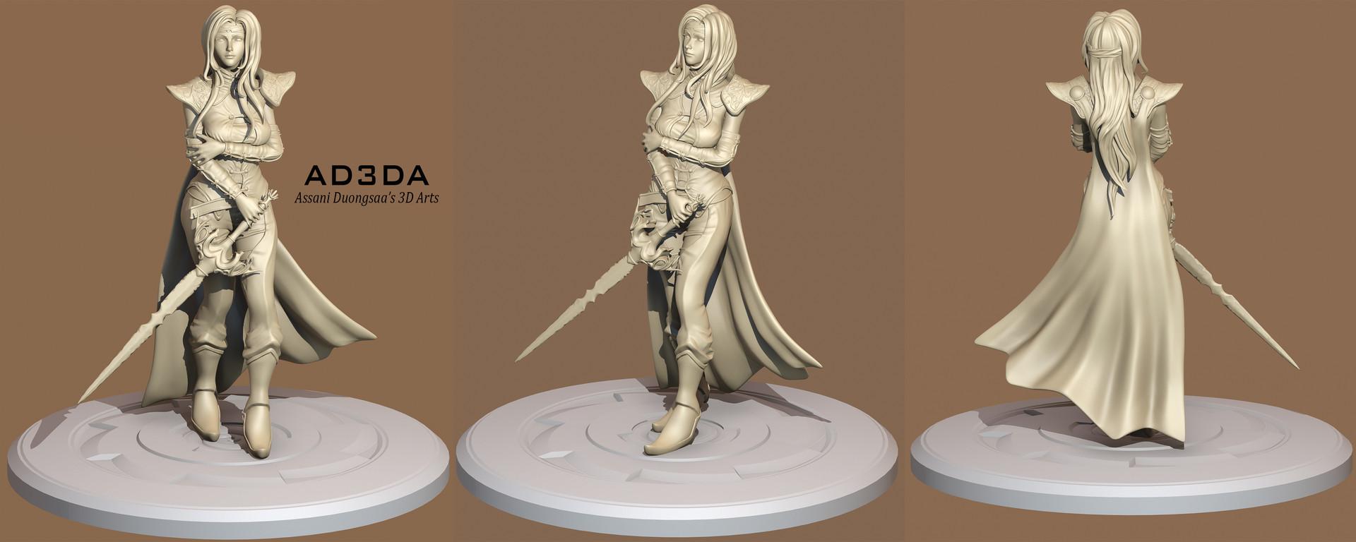 Final Fantasy VI - Celes Chere Re-Mastered - Sculpt