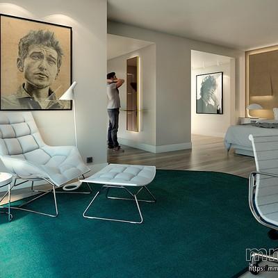 Miguel martin hotel room miguelmartin3d 11 2