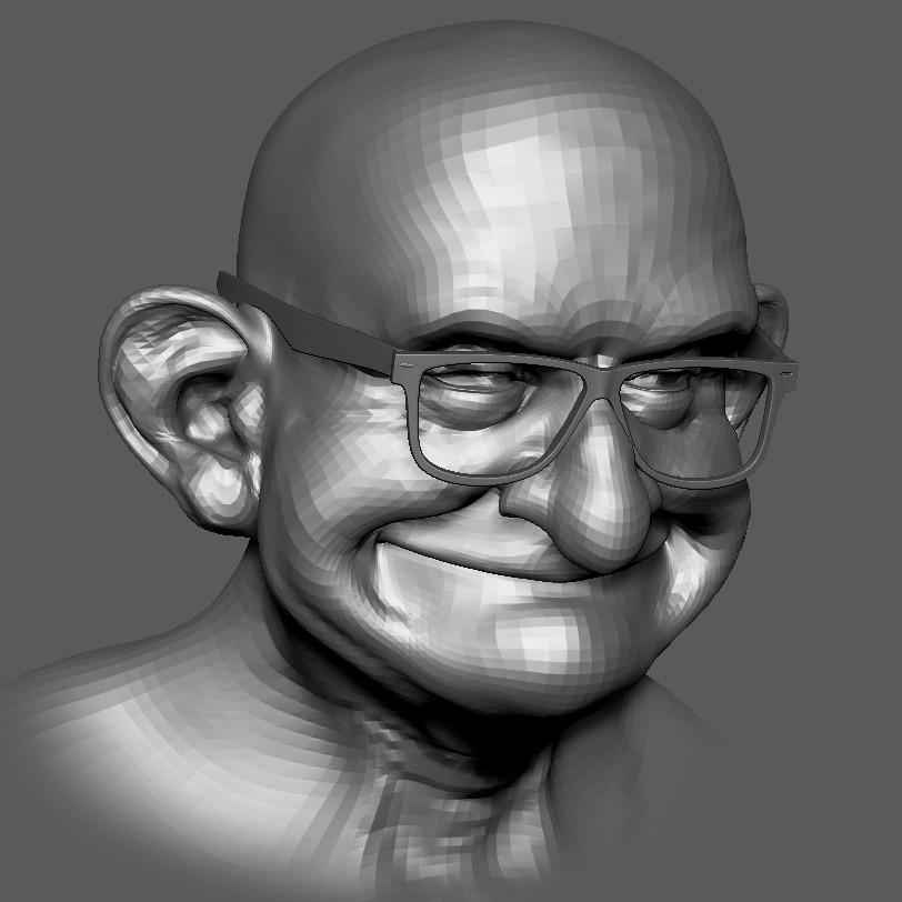 "3D digital sculpt inspired from  the duo by T. Kuegler "" Cletus and Shorty Greel"