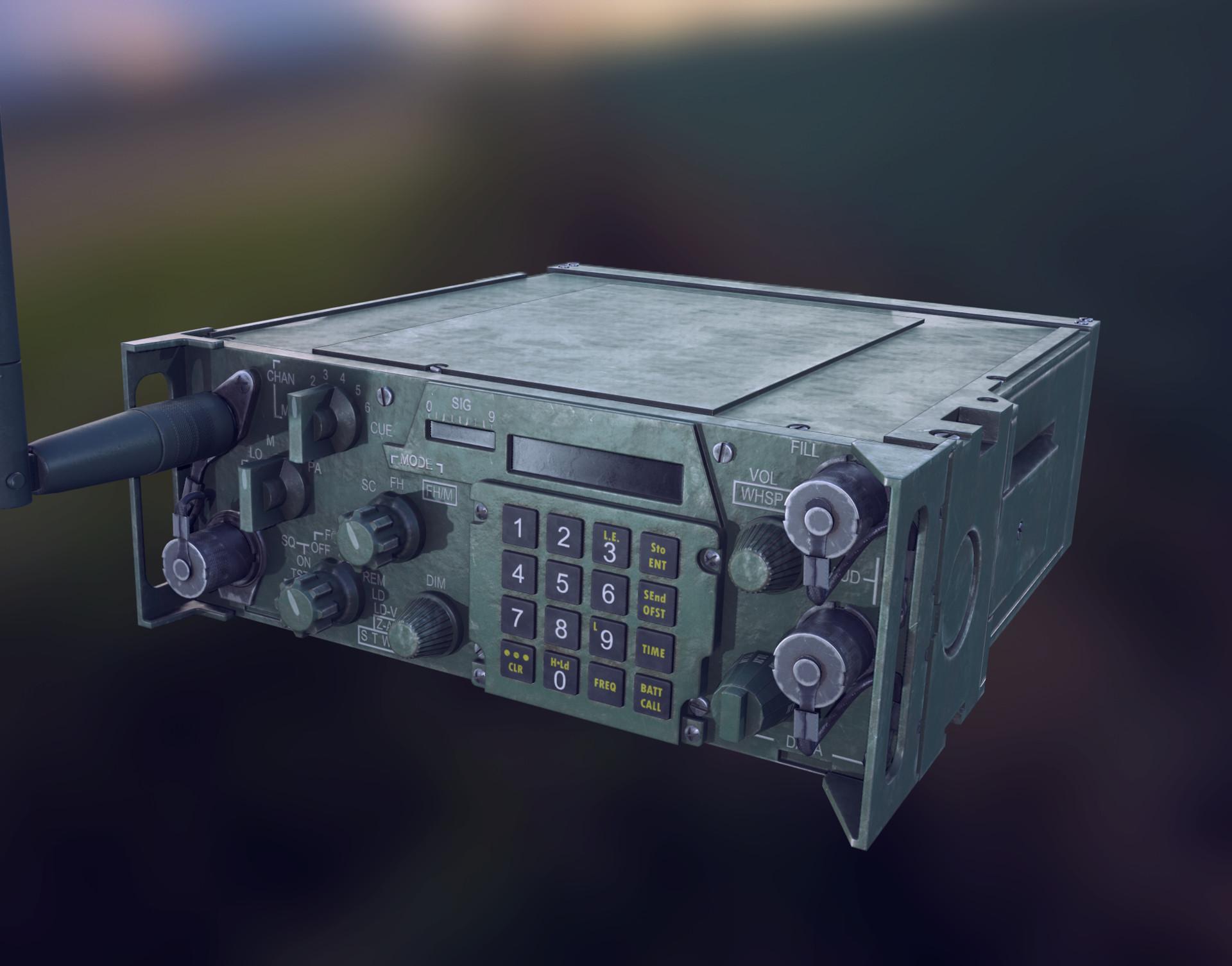 ArtStation - PRC 119 Military Radio, Nick Barone