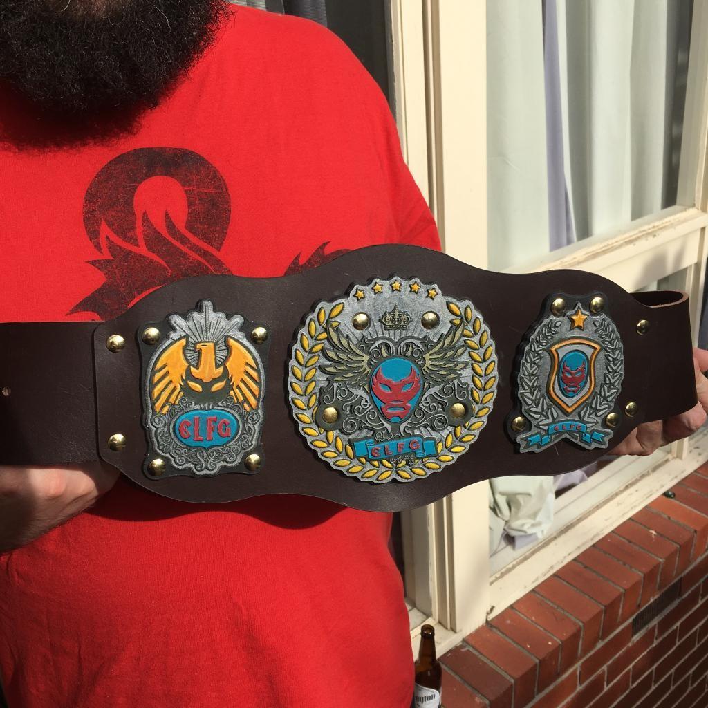 El Luchadore Fantastico Grande PAX Australia 2015 Tournament Prize Belt