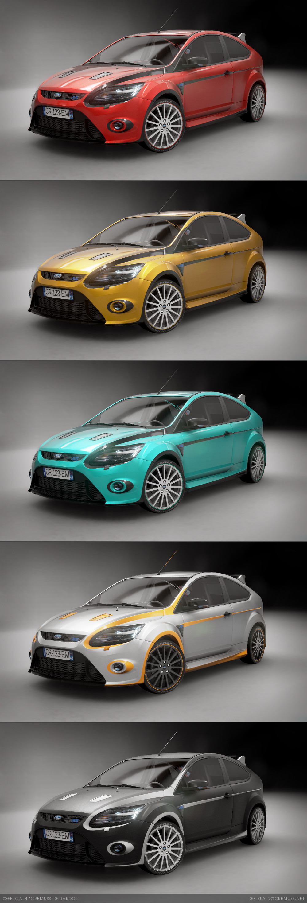 ArtStation - Low-poly Ford Focus RS500 - Unreal Engine 4