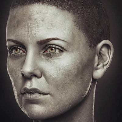 Charlize Theron as Furiosa 1/6 th Head Sculpt - Modern Life