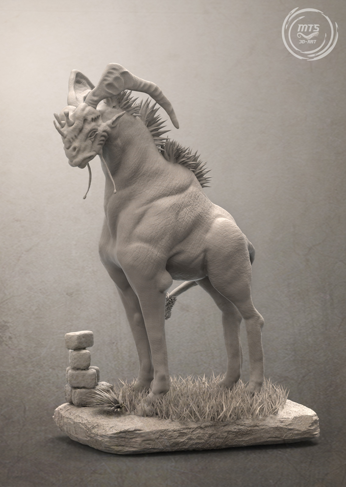 The Bahmbar - 3D Creature anatomy study
