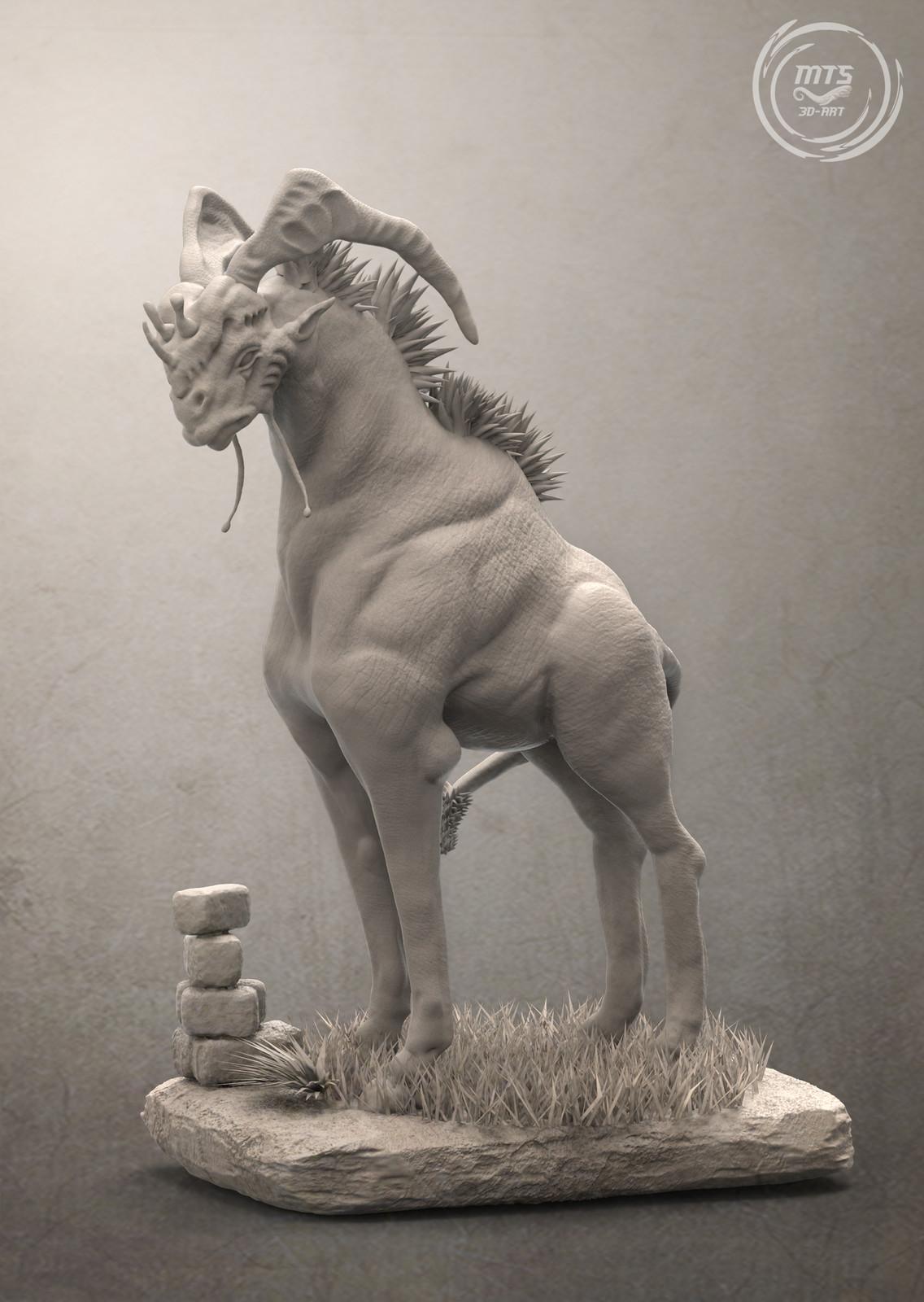 The Bahmbar - 3D Creature anatomy study