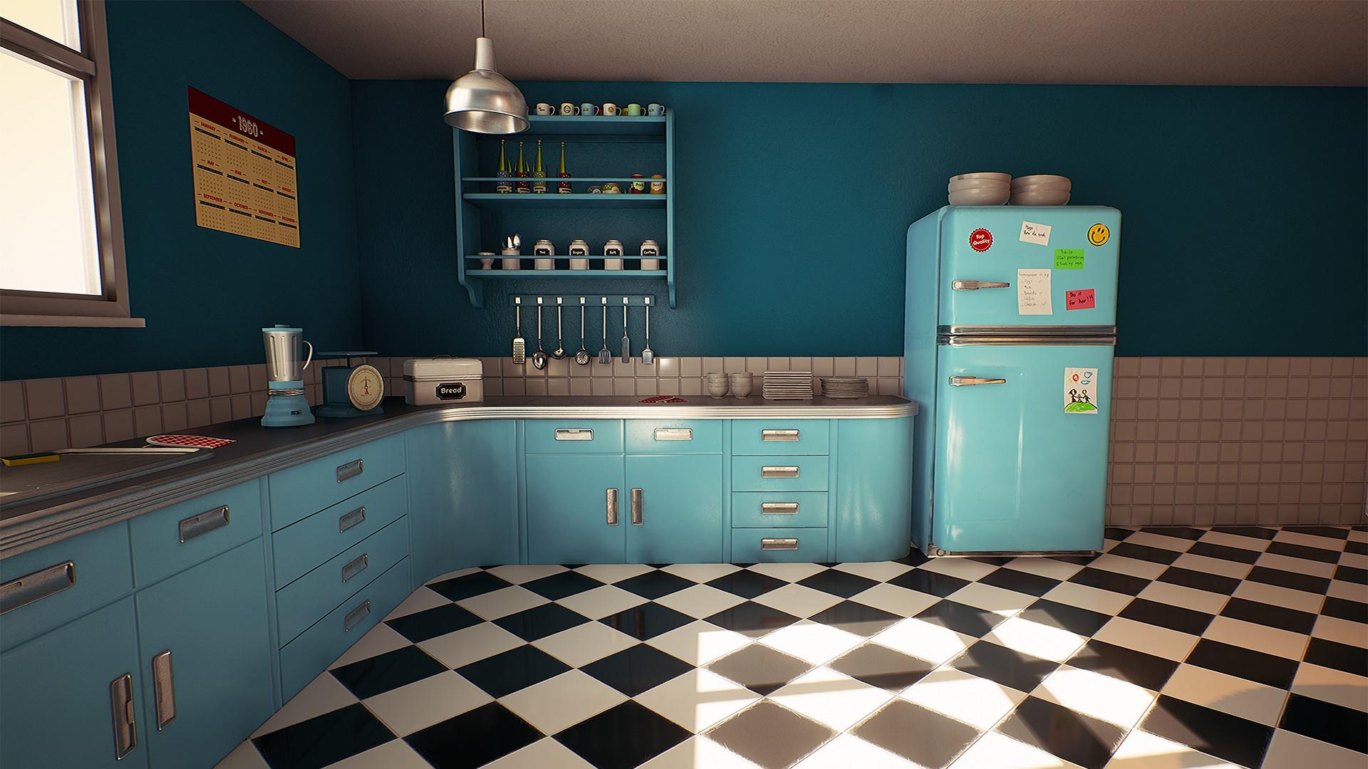 ArtStation - UE4 - Retro Kitchen, Nguyen Cong Thai