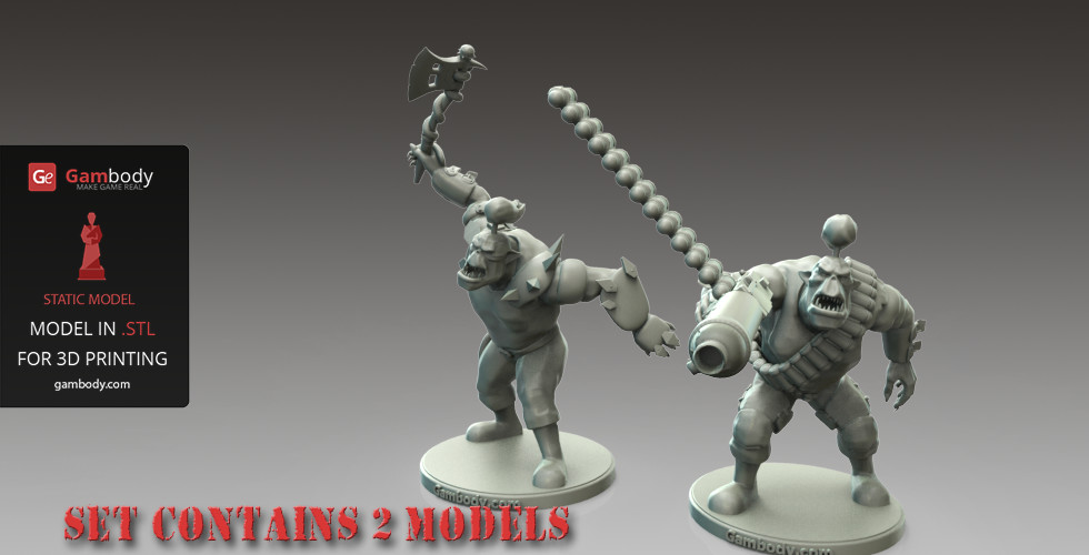 photograph regarding 3d Printable Figures known as ArtStation - 3D Printable Orks Greenskins 2 Sets - Types