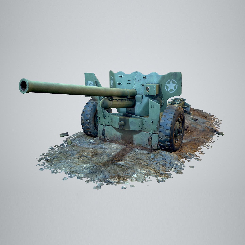 75mm M1 Antitank Gun
