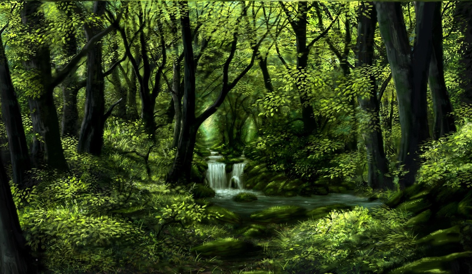 Green forest study (3)