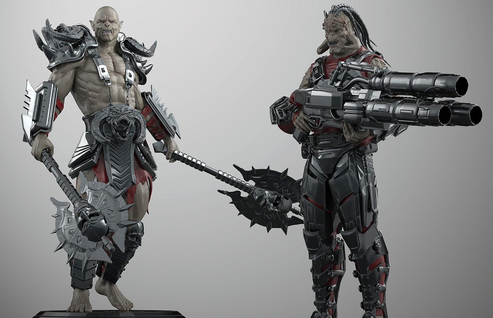 Orc vs Skaarj