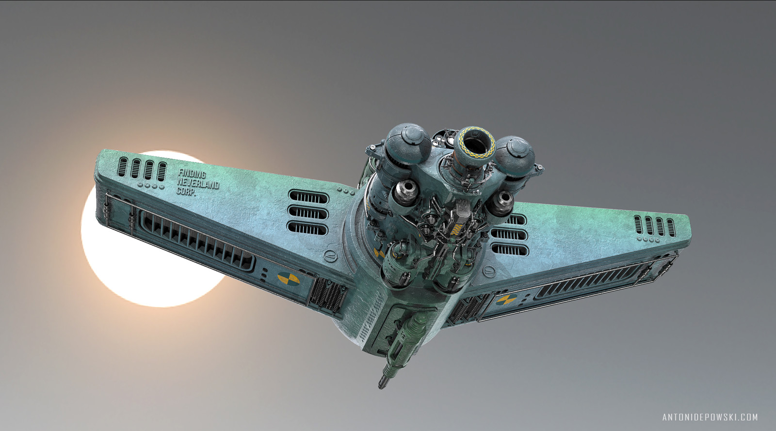 Sci-fi Bomber Speeder FN