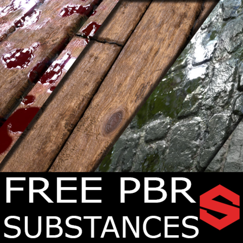 Free PBR Material (Substance) - Wood Planks and Cobblestone
