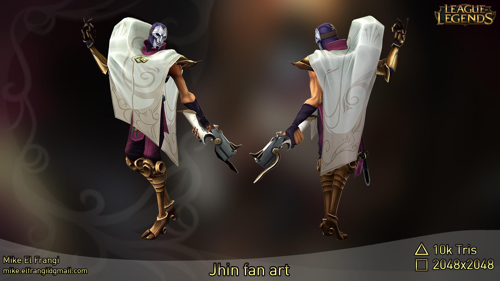 Artstation League Of Legends Jhin The Virtuoso Fan Art Mike