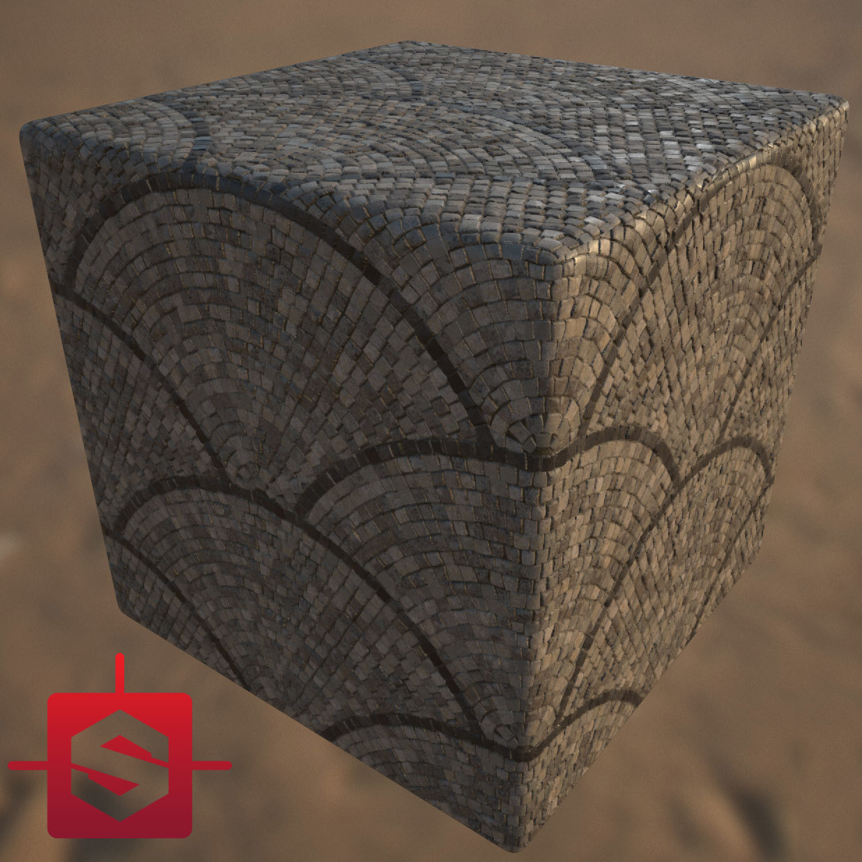 Fan Pattern Cobblestone - Substance Designer