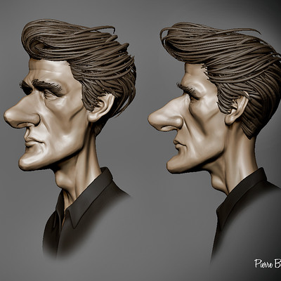 Quick 3D sculpt I did today based on a caricature by C Fox Payne