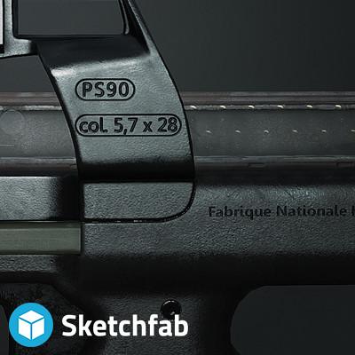 Michal veezen kalisz p90 banner sketchfab