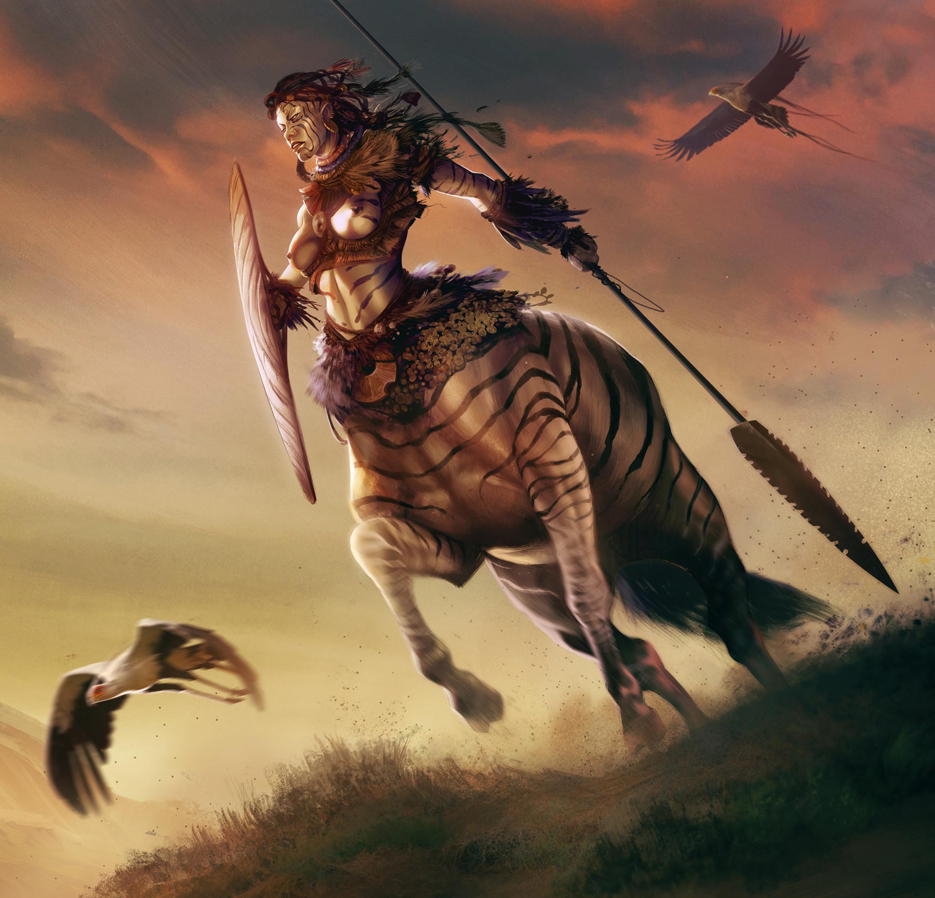ArtStation - Centaur, David Alvarez