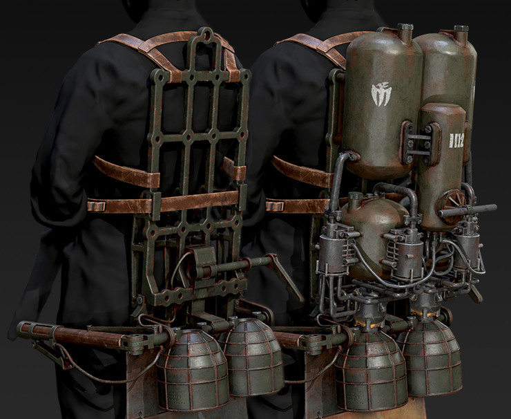 WW1 Jetpack - Trench leapers draco-sq102