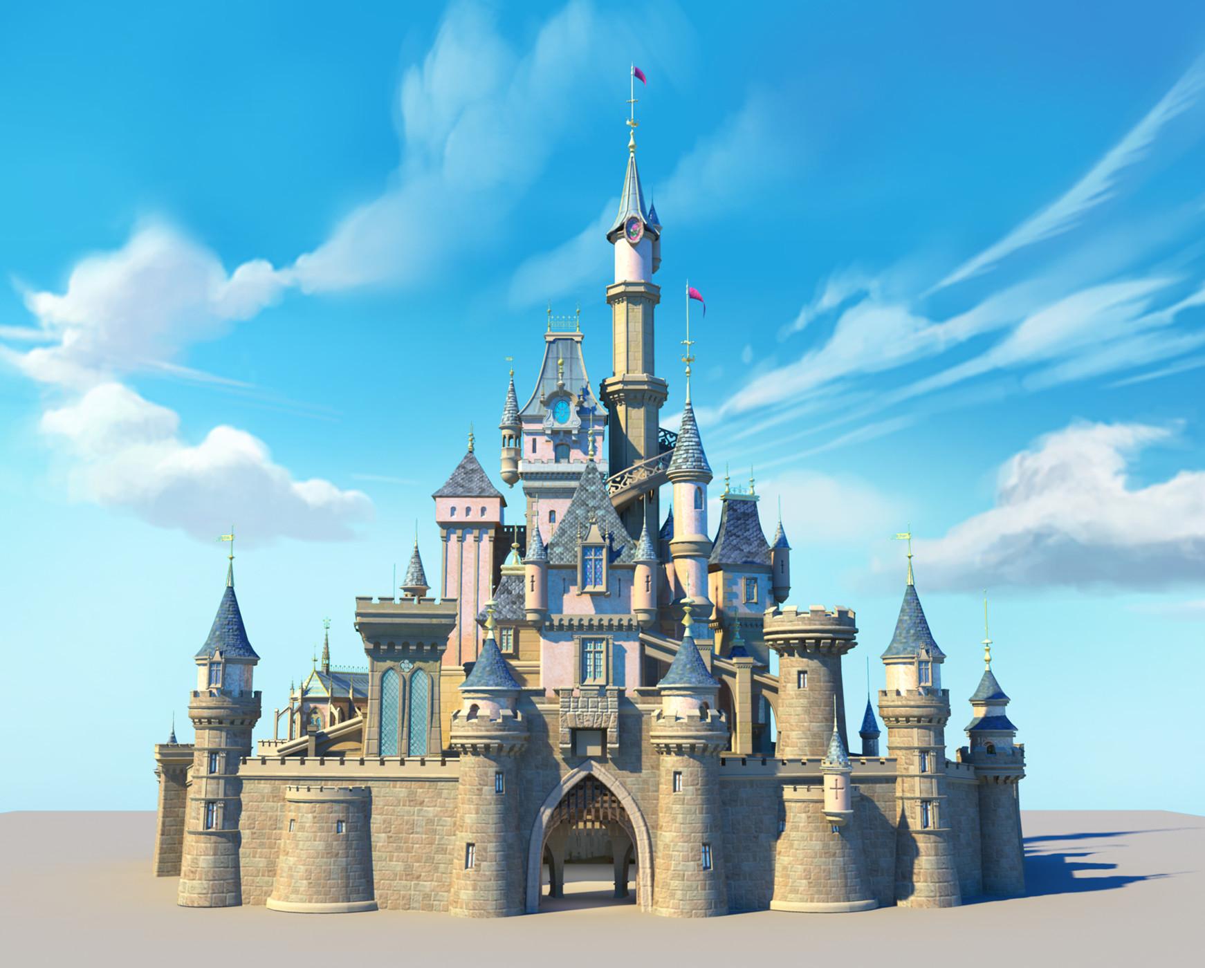 artstation disney castle craig voigt