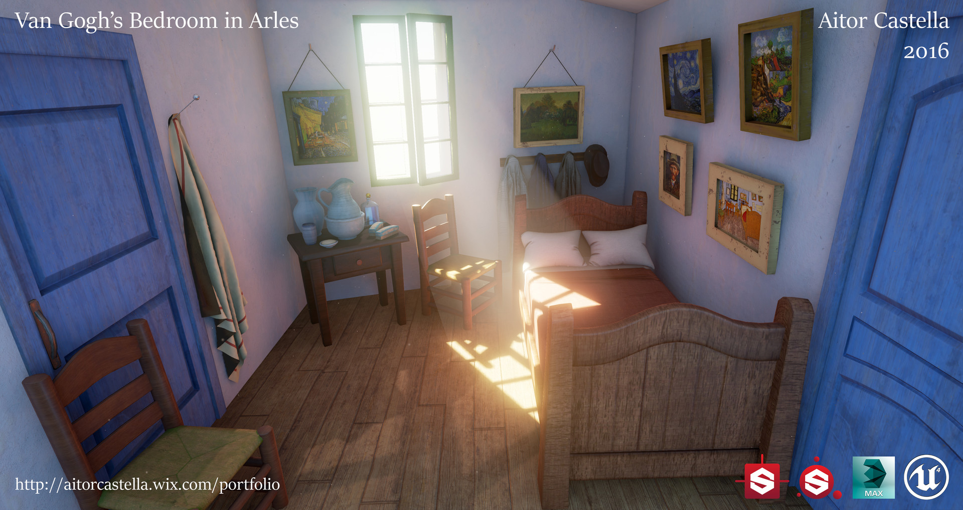 artstation - van gogh's bedroom in arles, aitor castella