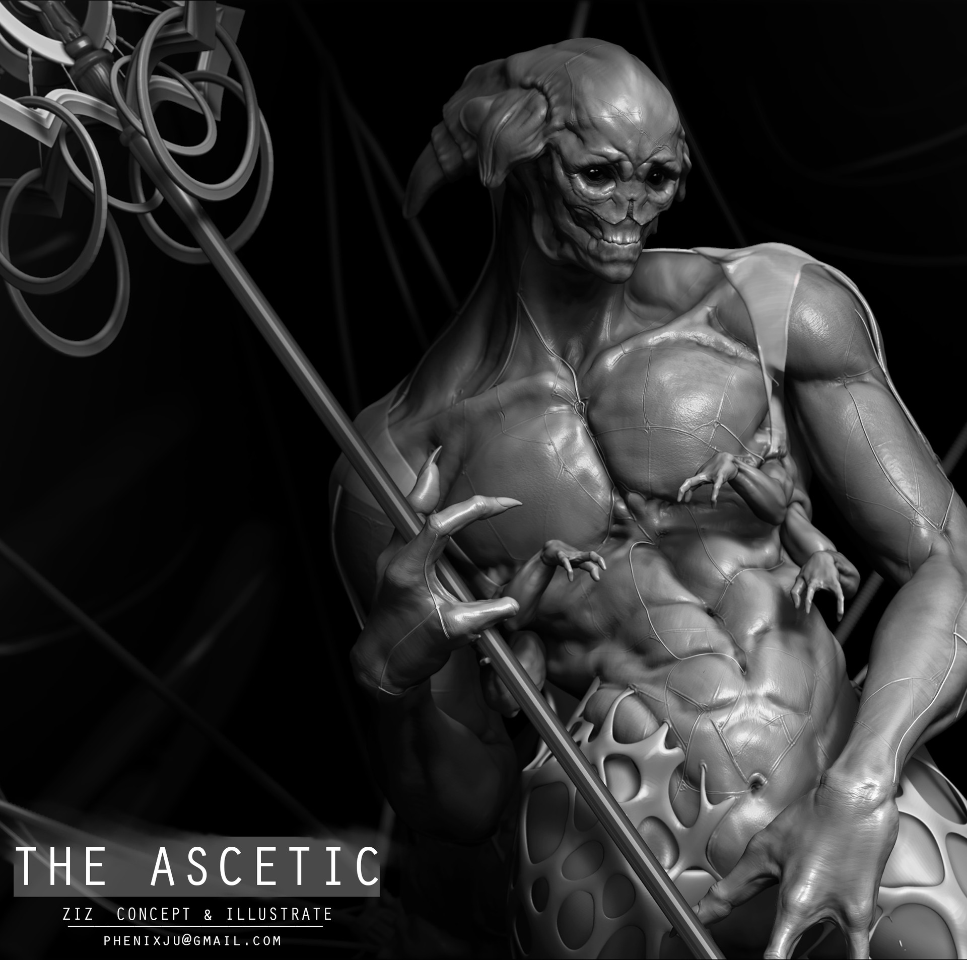 artstation 禁欲者 the ascetic ziz heavy industry