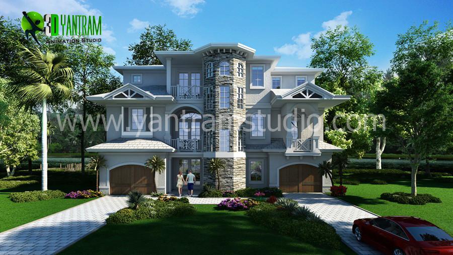 Captivating Classic 3D House Exterior Design   Canada