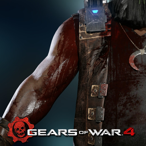 Gears of War 4: Oscar (Wound texture pass)