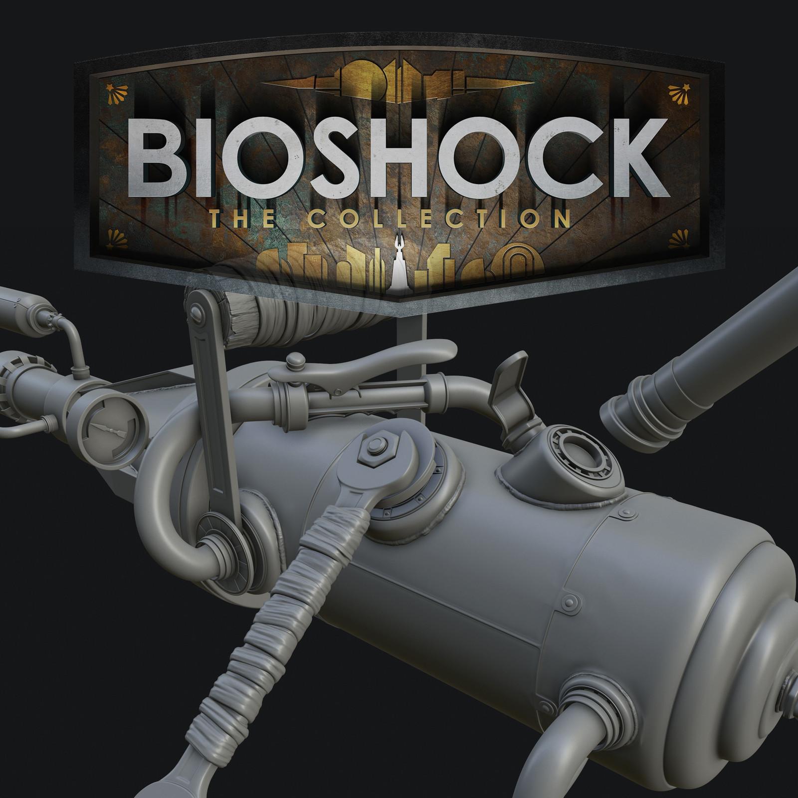 Bioshock: The Collection - Chemical Thrower High Poly