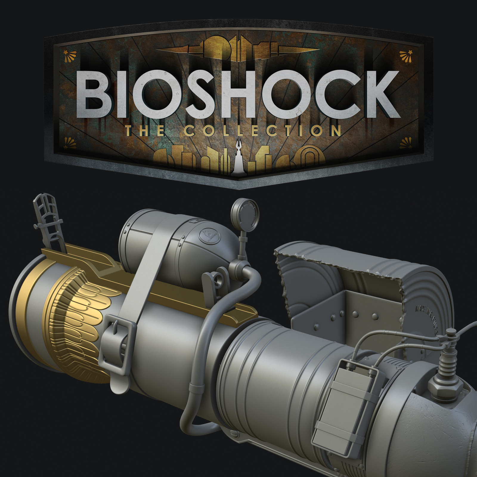 Bioshock: The Collection - Grenade Launcher High Poly